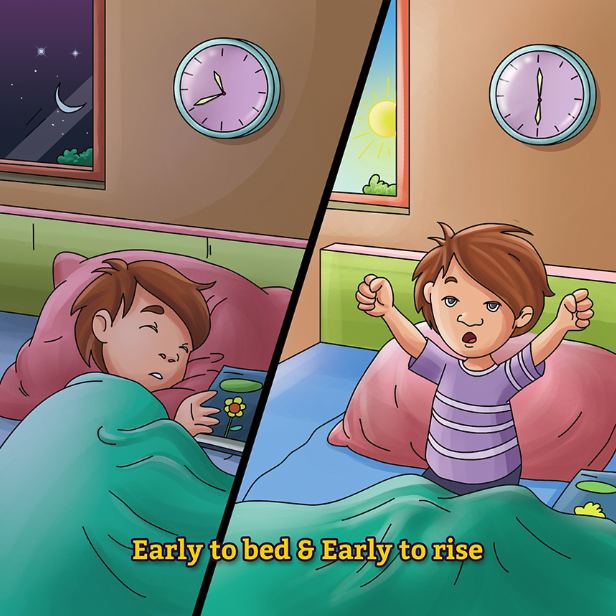 """Benefits of Early Rising"" Puzzle Games is available on Gullybabakids.com"